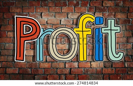 Profit Word Concepts Isolated on Background Concept - stock photo