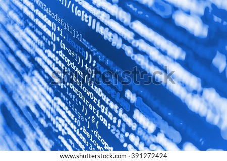 Programming code abstract screen of software developer. Software background. Website programming code. (Code is my own property there is no risk of copyright violations) - stock photo