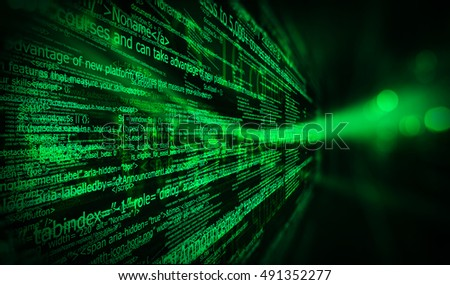Programming code abstract technology background of software developer and computer script/ HTML code programming  software  background; 3D illustration
