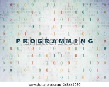 Programming concept: Programming on Digital Paper background - stock photo