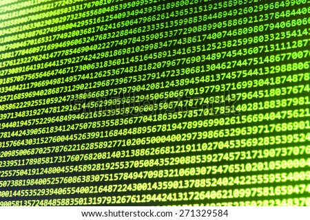 Programming source code abstract screen of software developer. Computer script. Green color. - stock photo