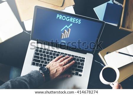 Progress Advance Growth Improvement Better Concept - stock photo