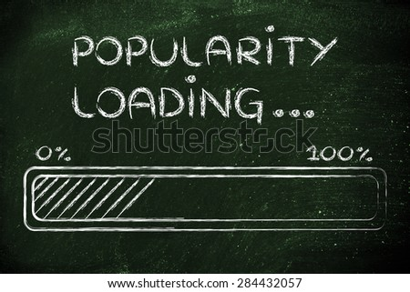progress bar, funny design with concept of popularity loading