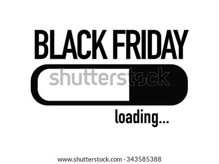 Progress Bar Loading with the text: Black Friday - stock photo