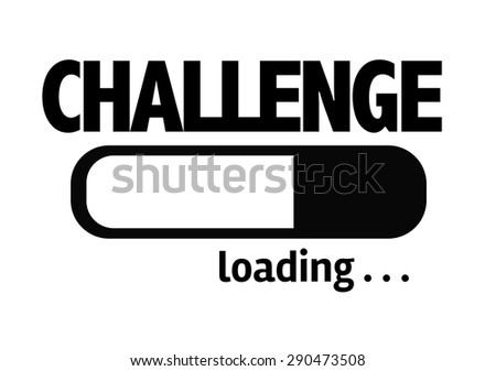 Progress Bar Loading with the text: Challenge - stock photo