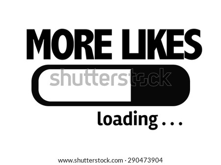 Progress Bar Loading with the text: Mores Likes - stock photo