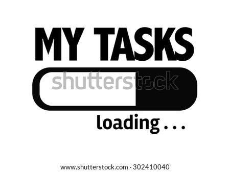 Progress Bar Loading with the text: My Tasks - stock photo