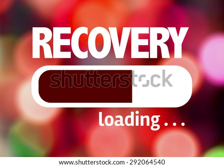 Progress Bar Loading with the text: Recovery - stock photo