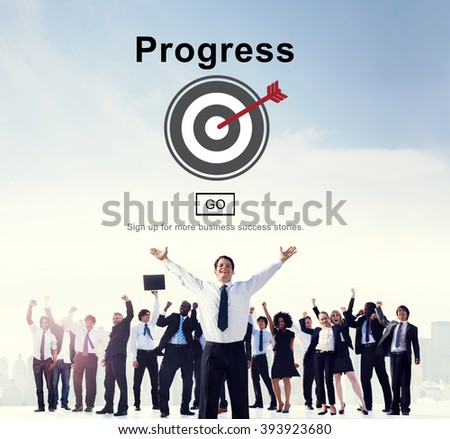 Progress Change Growth Development Improvement Concept - stock photo