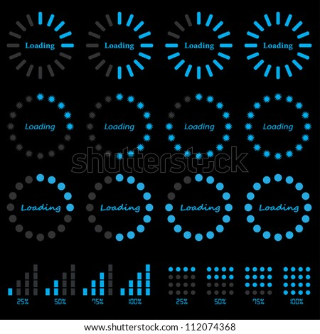 progress indicators - stock photo