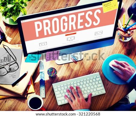 Progress Innovation Vision Improvement Innovation Concept - stock photo