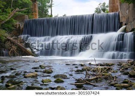 Progreston Falls, Hamilton, Canada. - stock photo