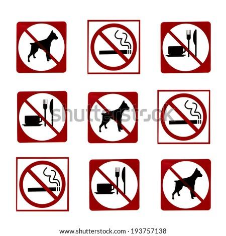 No Pee No Poop Information Signs Stock Vector 129745109 - Shutterstock