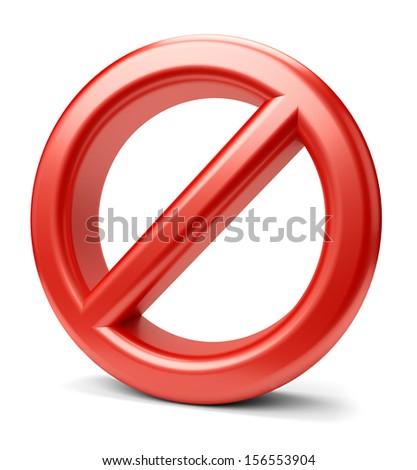 Prohibited sign icon isolated on white background. - stock photo
