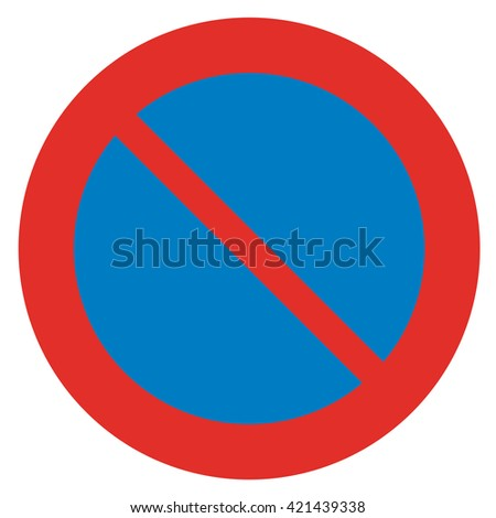 Prohibitory sign. No parking. - stock photo