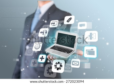 Project. Businessman real estate concept - stock photo
