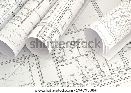 Project drawings / Image of several drawings for the project engineer jobs