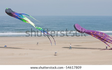 Project ending celebrations Delflandse coast - stock photo