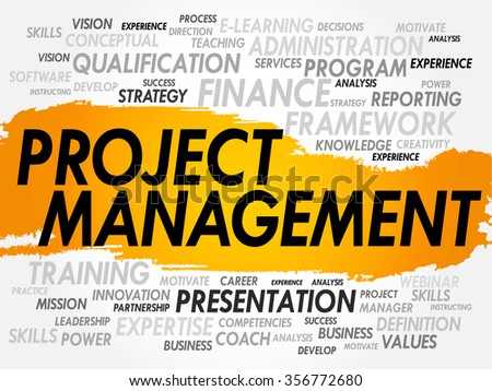 Project Management word cloud, concept background - stock photo