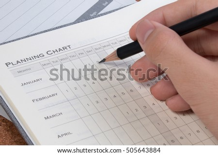 Project plan concepts. Blank business planning chart form. Details of empty project plan chart for tasks. Planning chart for financial project.