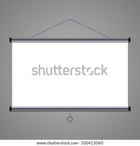 projection screen to showcase your projects, 16:9 aspect ratio - stock photo