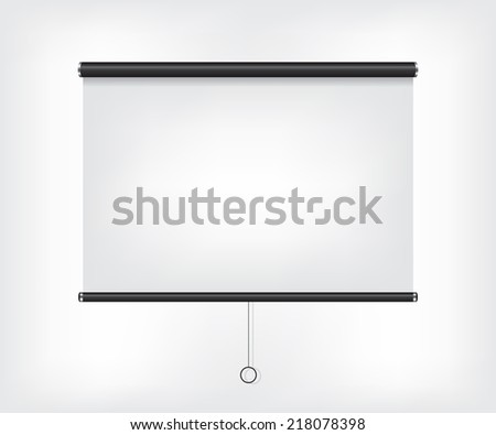 Projector blank screen - stock photo