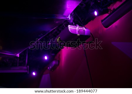 projector in night club