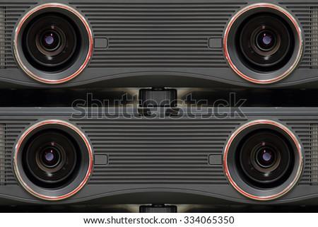 Projector lens big  close - stock photo