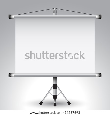 projector roller screen, abstract art illustration - stock photo