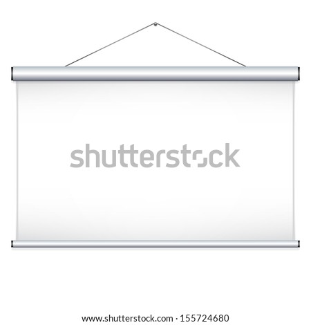 Projector screen.  - stock photo