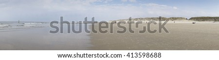 Promenade at the north beach, Norderney, East Frisian Island, Lower saxony, Germany