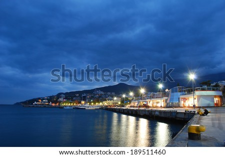 Promenade of Yalta in the Crimea
