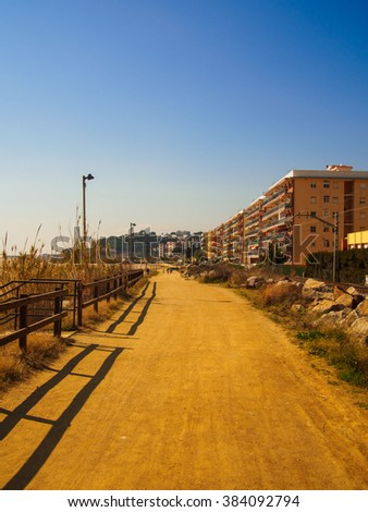 Promenade on the beach in Canet