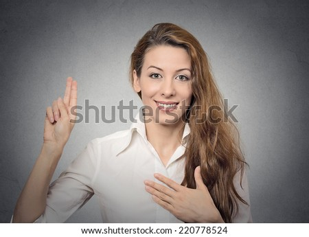 promise - stock photo