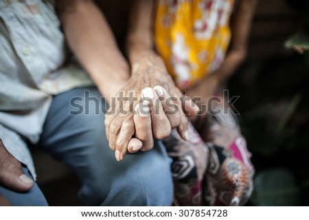 Promise to take care of each other forever. - stock photo