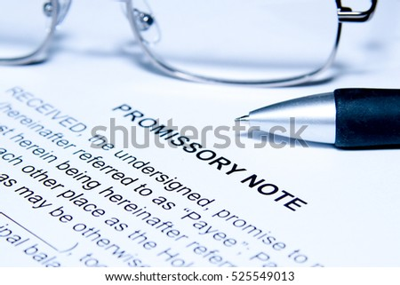 Promissory Note Stock Images, Royalty-Free Images & Vectors