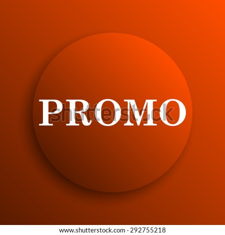 Promo icon. Internet button on orange background