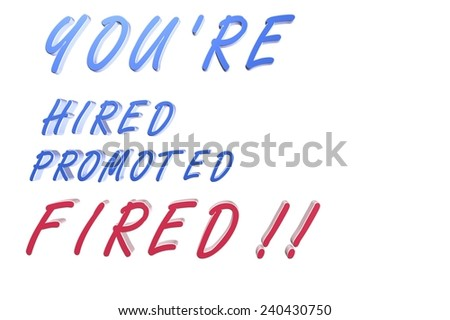Promoted with 3d red text isolated white background - stock photo