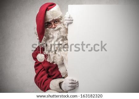 Promoting Santa - stock photo