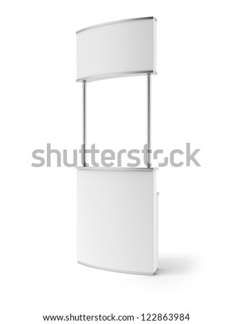 Promotion counter isolated on a white background - stock photo