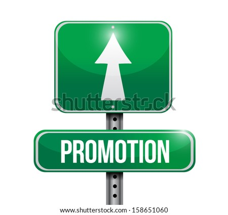 promotion road sign illustrations design over a white background - stock photo