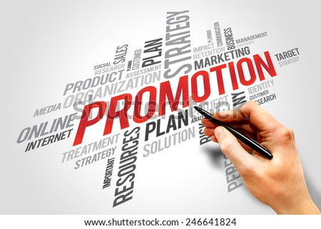PROMOTION word cloud, business concept - stock photo