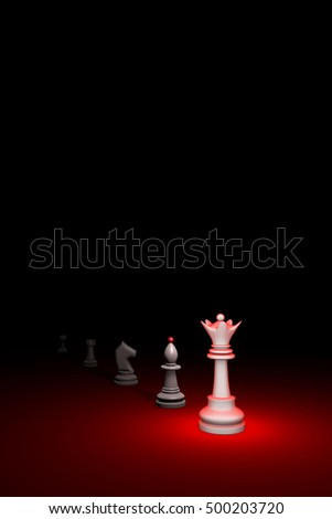 Prompt career. Vertical chess composition. Available in high-resolution and several sizes to fit the needs of your project. 3D renderi illustration. Black background layout with free text space.