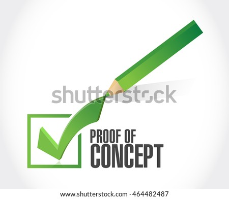 proof of concept check mark sign concept illustration design graphic