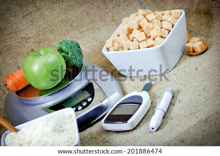 Proper nutrition to health without diabetes - stock photo