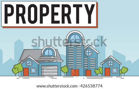 Property Housing Estate Ownership Concept - stock photo