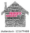 Property Management in word collage composed in house shape - stock photo
