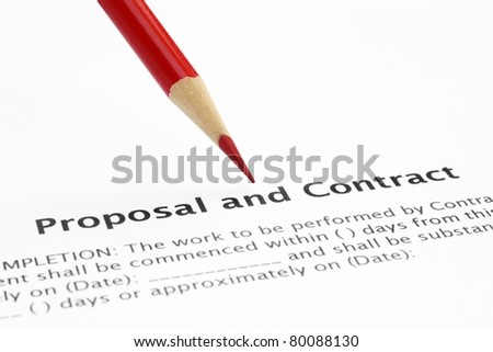 Proposal and contract - stock photo