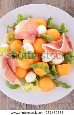 prosciutto with melon salad