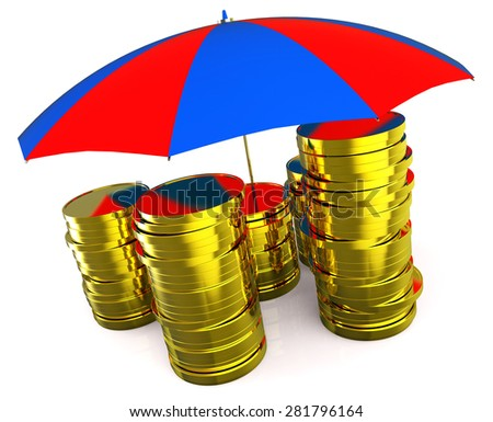 Protect Money Meaning Finances Cash And Security - stock photo